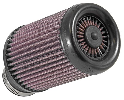 Flange 62 mm, Bottom 114 mm, Cover 102 mm, Length 152 mm  K&N X-Stream Air Filter No. RX-3800 round tapered